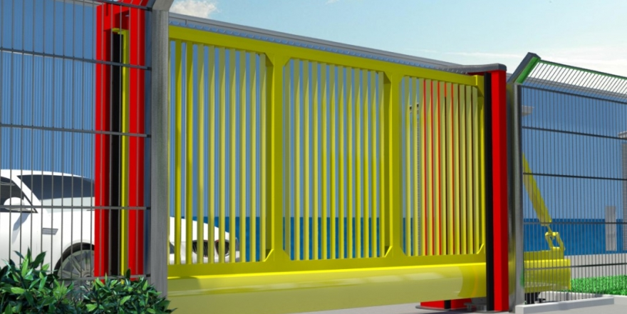 Sliding Gates Available in Corporate Colours