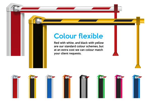 Barriers Available in a Variety of Colours